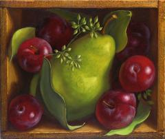 Pear with Red Plums