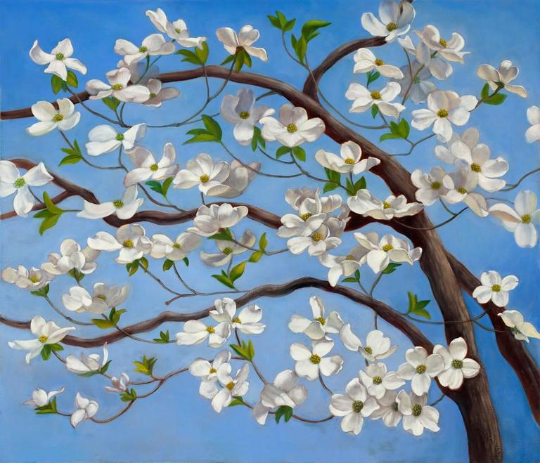 Denise Mickilowski Dogwood Painting For Sale At 1stdibs
