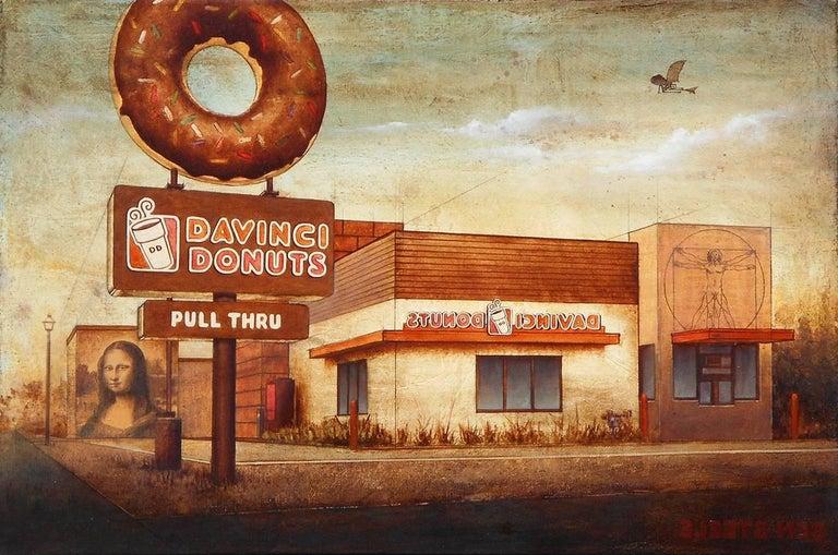 Ben Steele Still-Life Painting - Da Vinci Donuts