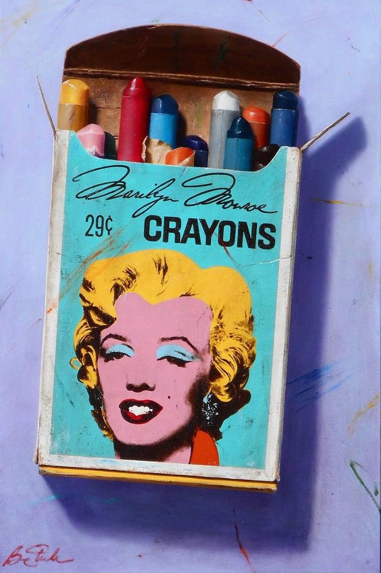 Ben Steele Still-Life Painting - Marilyn Monroe Crayons