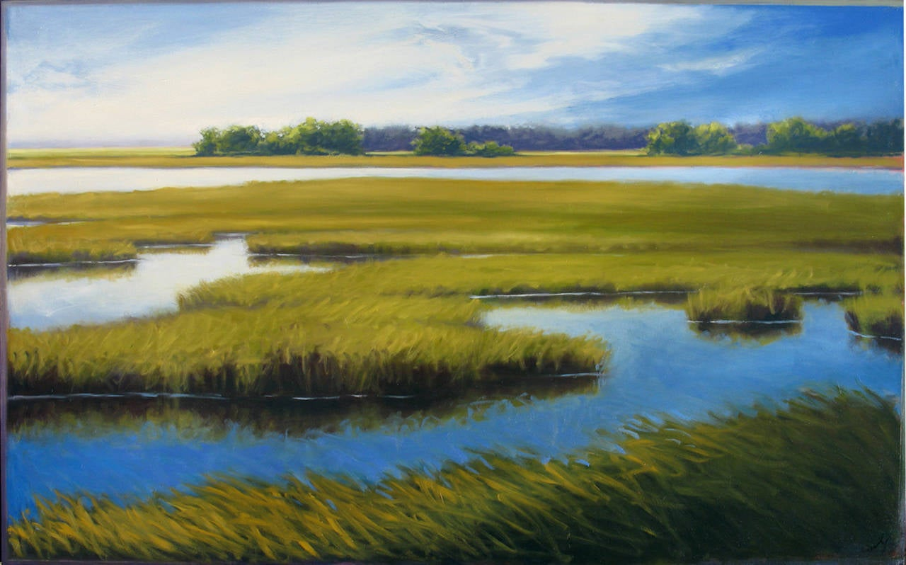 Margaret Gerding - Soft Morning of the Marsh, Painting For ...