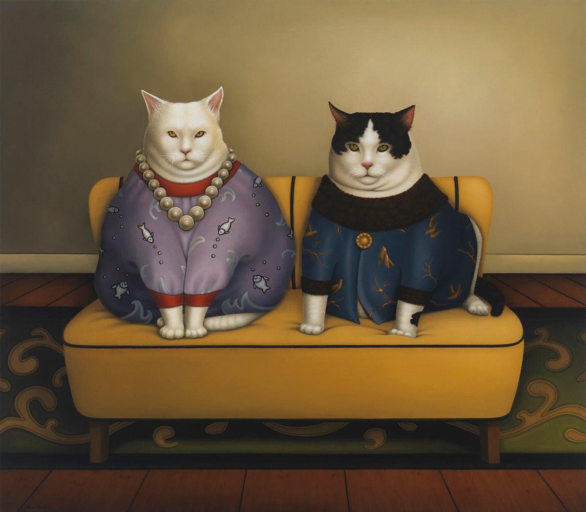 Deborah Van Auten Figurative Painting - Aristocats