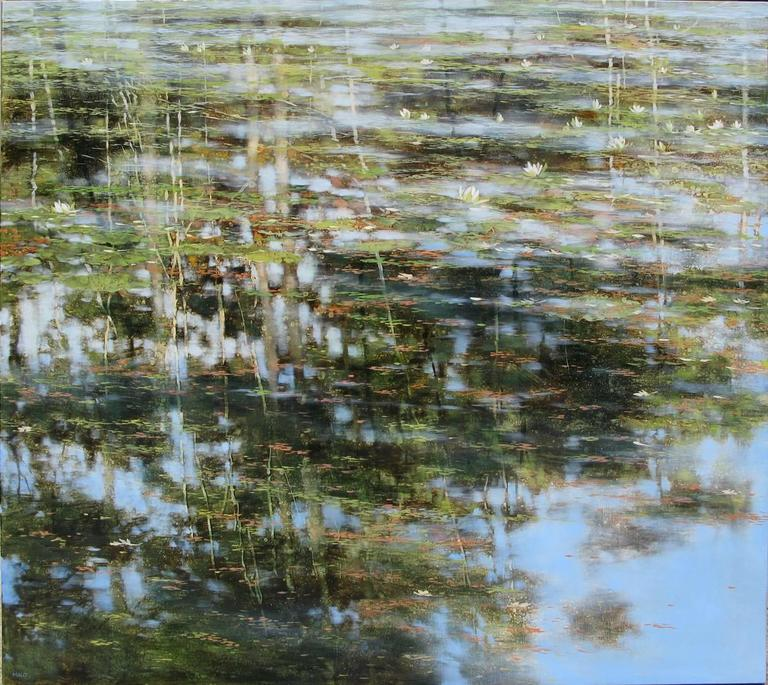 Teri Malo My Lily Pond Painting For Sale At 1stdibs