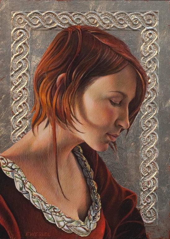 Fred Wessel Portrait Painting - Lauren (study)
