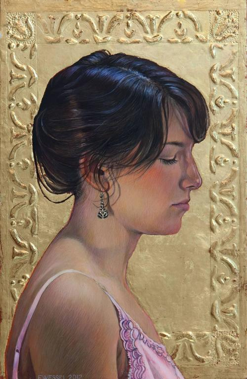 Fred Wessel Portrait Painting - Jacqui (study)