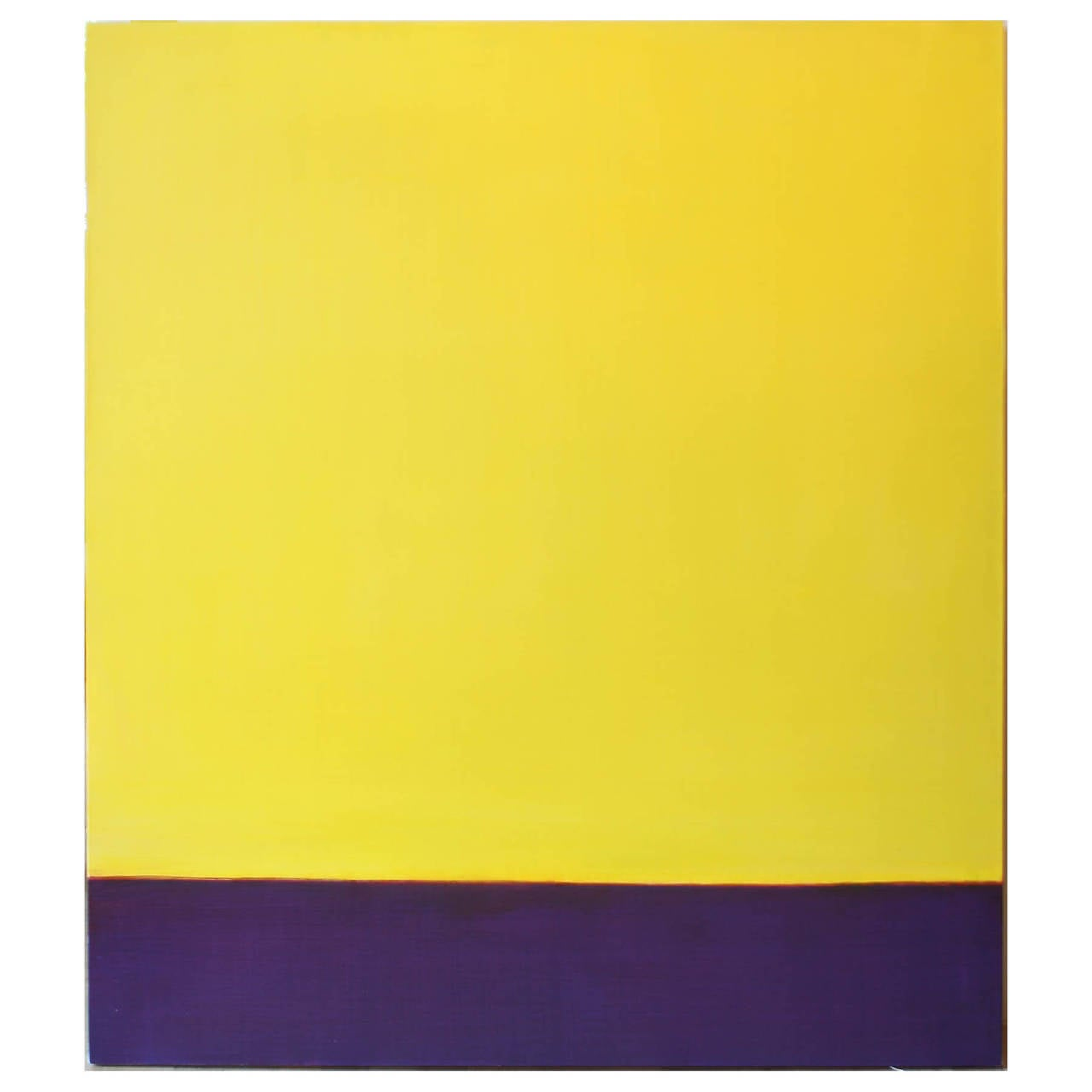 Leora Armstrong Abstract Painting - Yellow Field, April 24, 2014