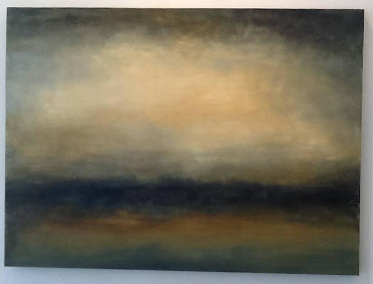 Transcend, Abstracted Landscape, Hudson River School, Oil painting, brown, earth