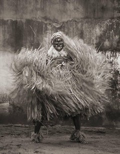 GLA Dancing, West Africa tribal photograph, Limited Edition, Sepia, Figurative