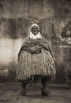 GLA Standing, West Africa tribal photograph, Limited Edition, Sepia, Figurative