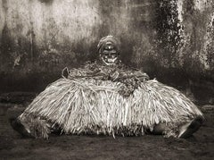 GLA Resting, West Africa tribal photograph, Limited Edition, Sepia, Figurative