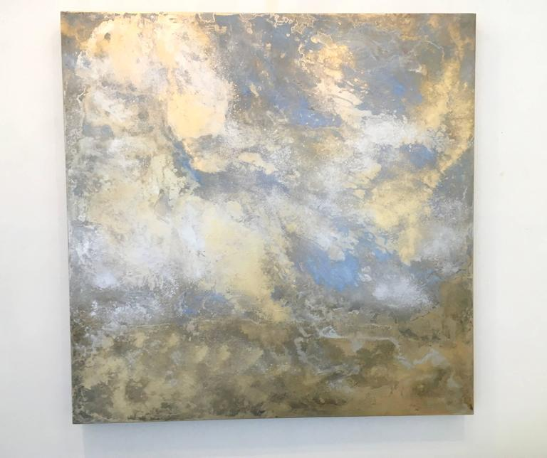 Rhosen - Contemporary Painting by Michelle Gagliano