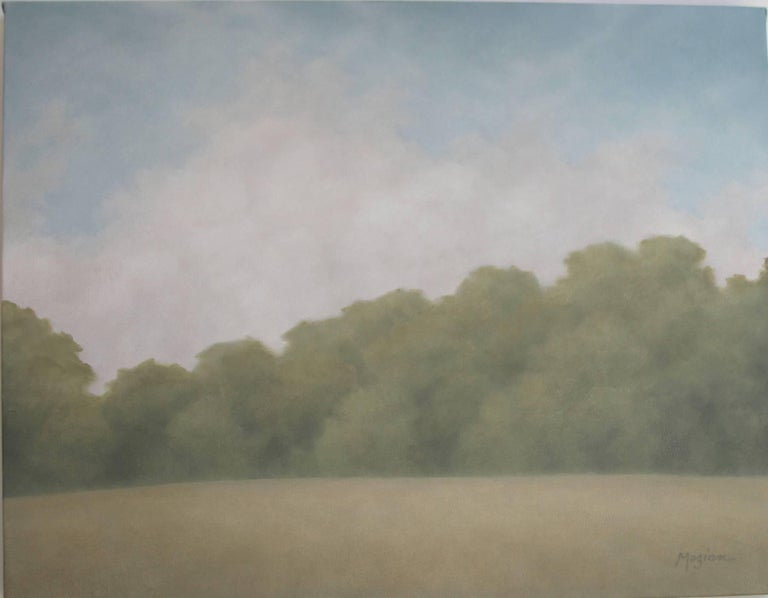 Ann Wood Mezian Landscape Painting - Heartland Clouds at Midday