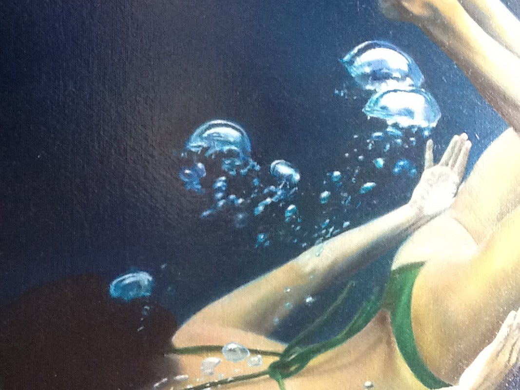Matt Story - Green Back Spin, Painting at 1stdibs