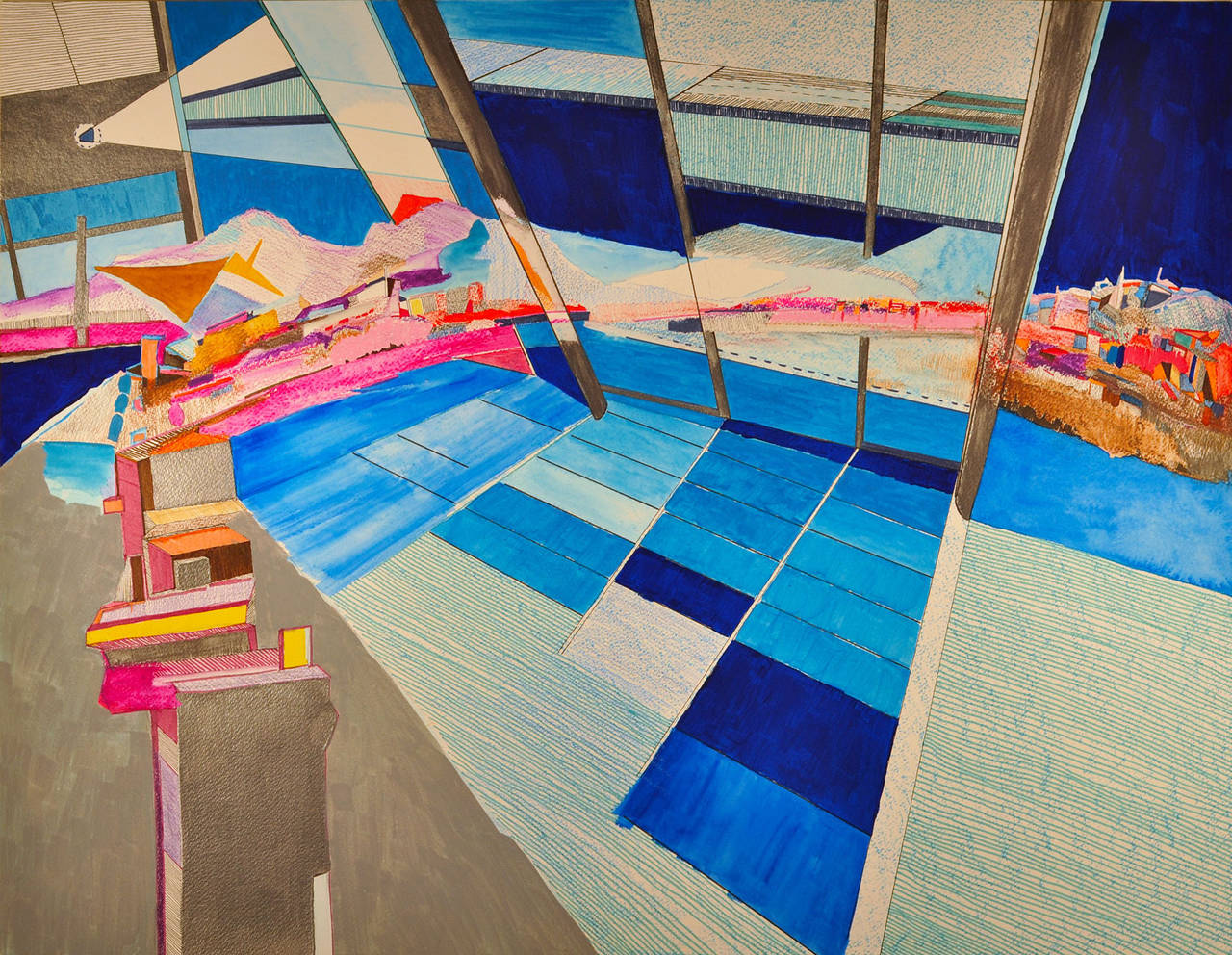 Yasemin Kackar Demirel Landscape Art - Into The Blue Yonder