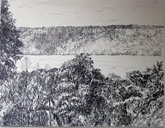 Palisades Ink Sketch