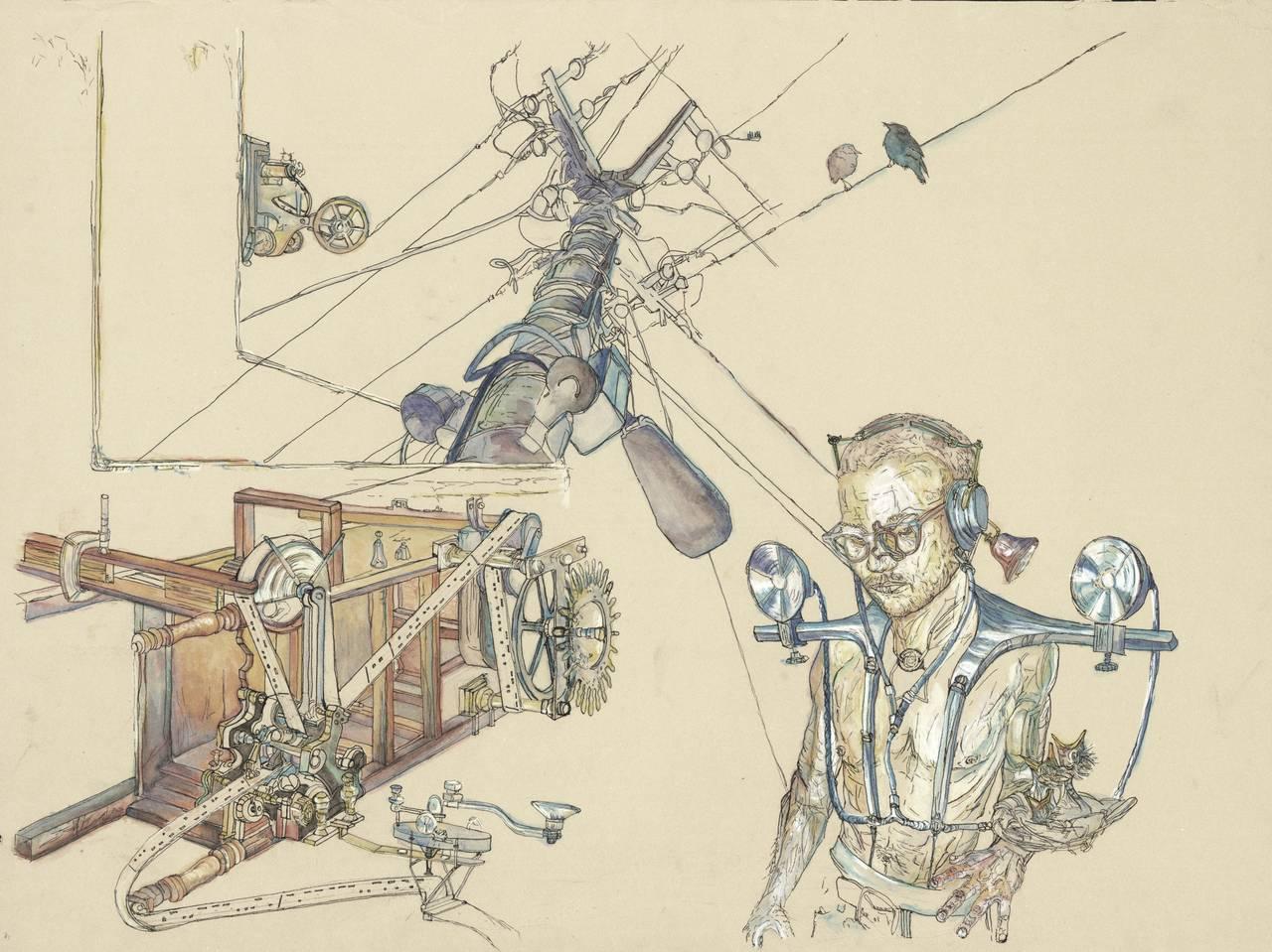 Krzysztof Pastuszka Figurative Art - Morsecode