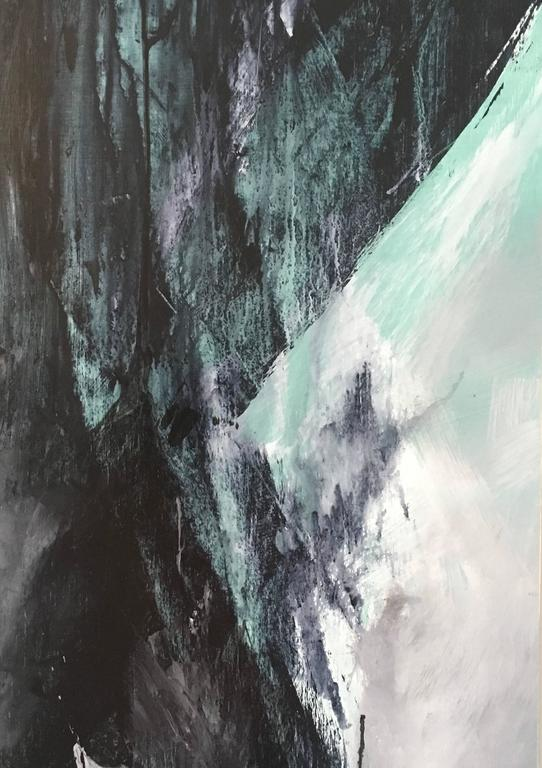 Europa 22 - Black Abstract Painting by Stephanie Cate