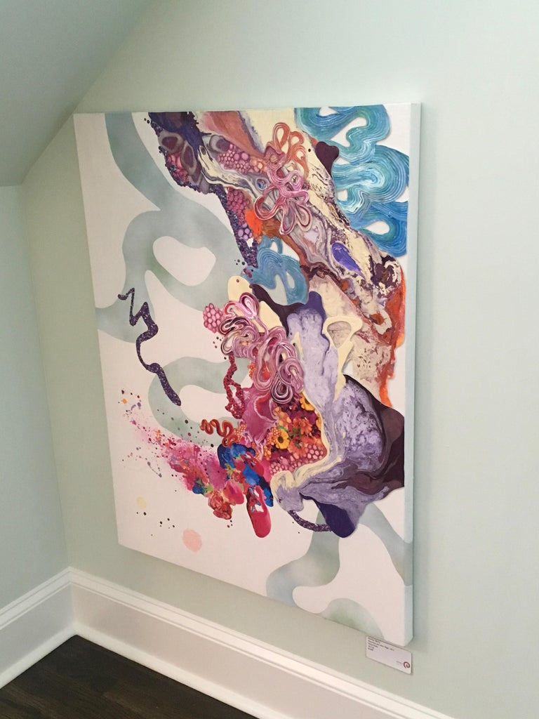Kimber Berry Abstract Painting - Pixie Dust and Other Magic