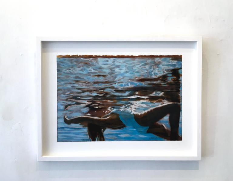 Light Catcher (on paper) - Painting by Carol Bennett