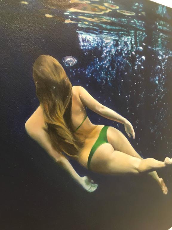 Green Cross Twist - American Realist Painting by Matt Story