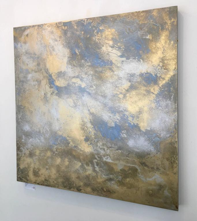Rhosen - Gold Landscape Painting by Michelle Gagliano