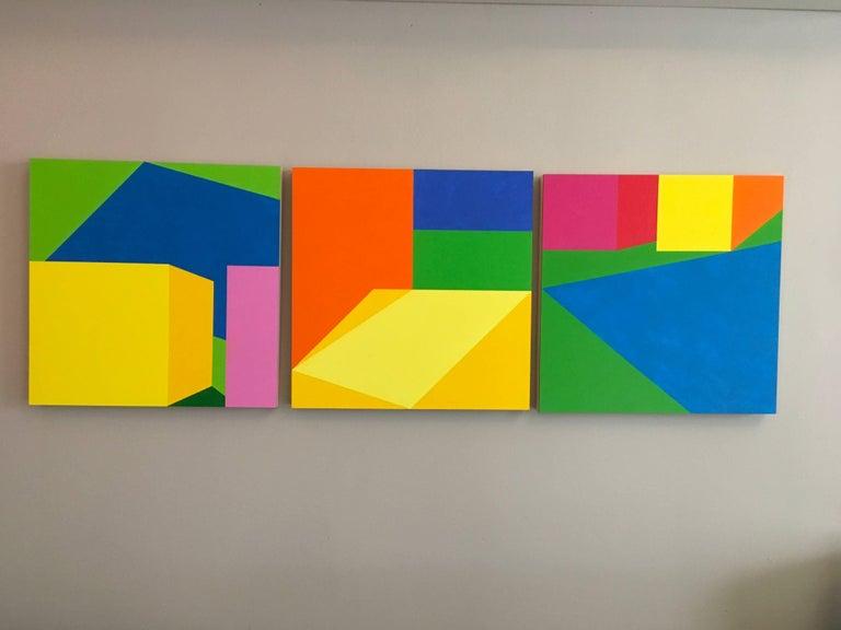 Martha Hughes Interior Painting - Scenes - Triptych