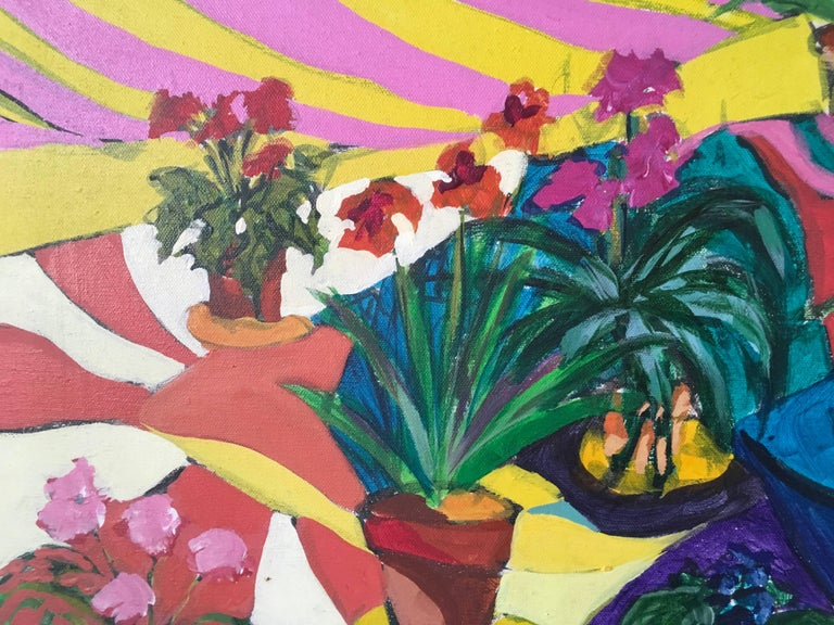 Flowers - Contemporary Painting by Joanne Cooper (b.1930)