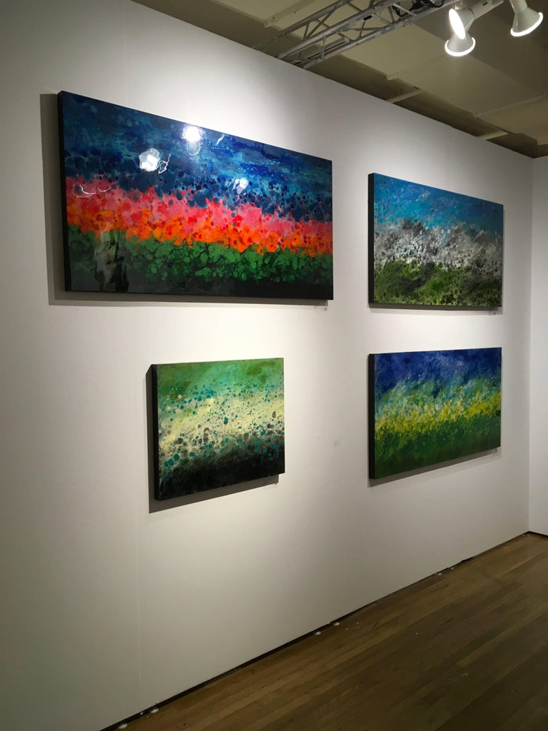 Riviere Aux Cerises - Contemporary Painting by Marie Danielle Leblanc