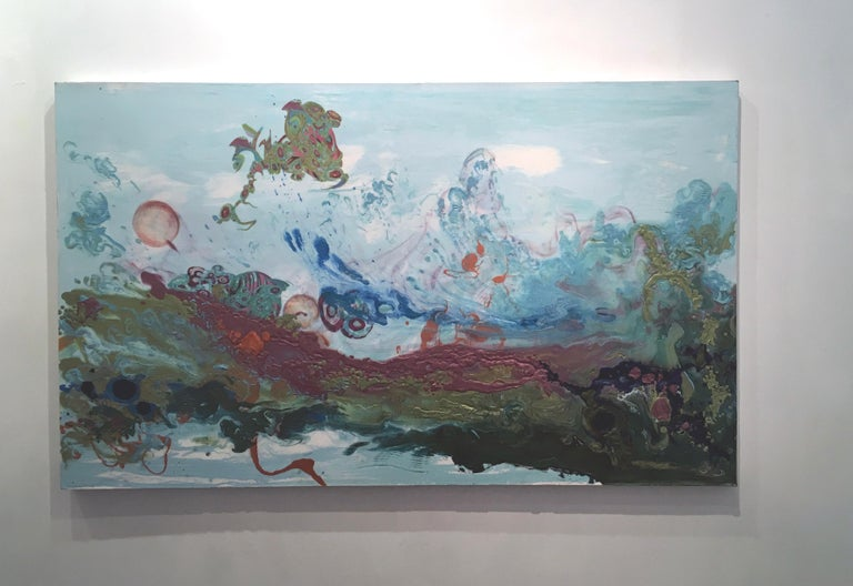 Liquid Landscape 628-060708, Mixed Media, Waterscape - Painting by Kimber Berry