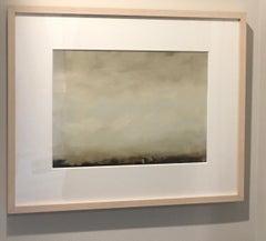 Cirrus I, Abstracted landscape, Hudson River School, Oil on board, framed