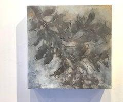 Nebular Vines 9438, botanical, Nature artwork, Farmhouse, Silver