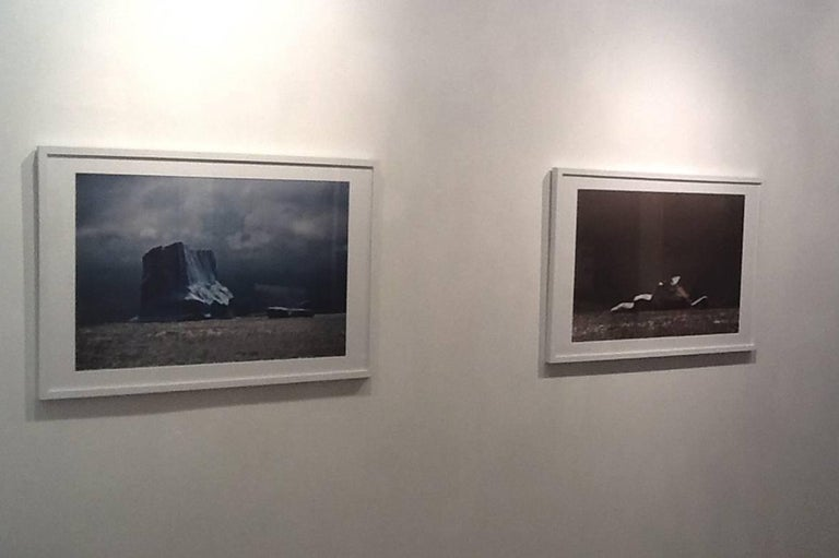 Patagonia #51, Iceberg, Limited Edition Photograph, Blue, Black, unframed For Sale 1