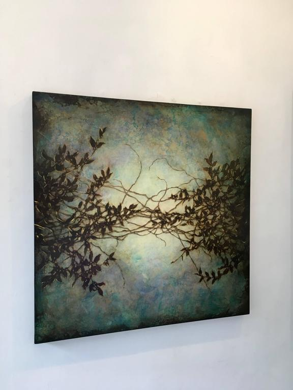 Wisteria in Blue - Painting by Michelle Gagliano