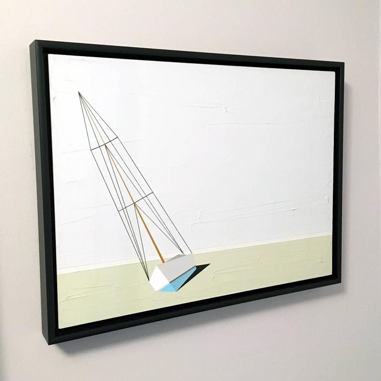 Darling, Oil and Acrylic Painting, Sailboat, Textured For Sale 1