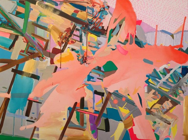 Yasemin Kackar Demirel Abstract Painting - Where Everything Shifts