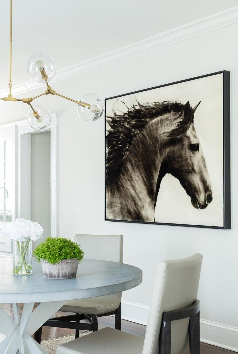 Ken Peloke Animal Painting - Flee to Freedom Equestrian Painting