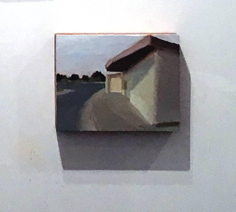 Wilson and Old Wilson No 3, Small Industrial landscape, Acrylic on Wood Panel - Painting by Ferdinanda Florence