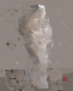 Classical Shroud, digital painting, abstracted figure, earth tones