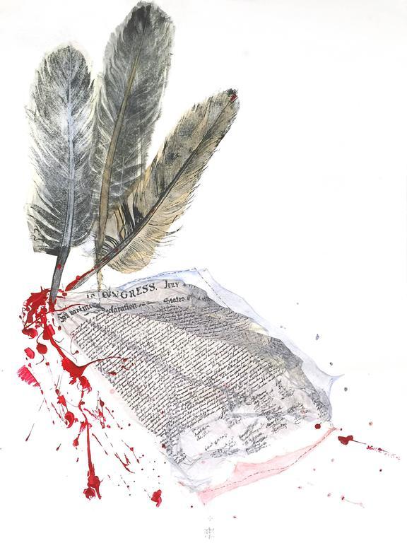 Karin Bruckner Mixed Media Art - AdHominem