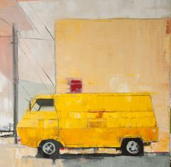 Yellow Van with Yellow Building