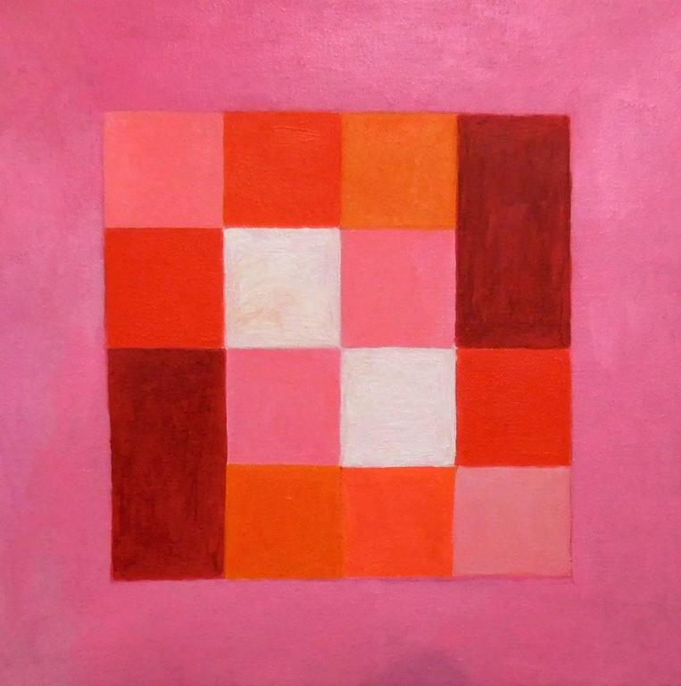 Caroline Blum Abstract Painting - Pink Fluff