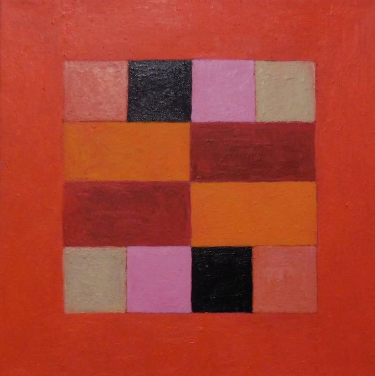 Caroline Blum Abstract Painting - Tangerine Dreams
