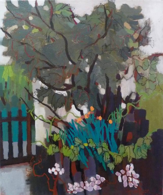 Sarah picon la porte du jardin painting at 1stdibs for Art du jardin zbinden sa