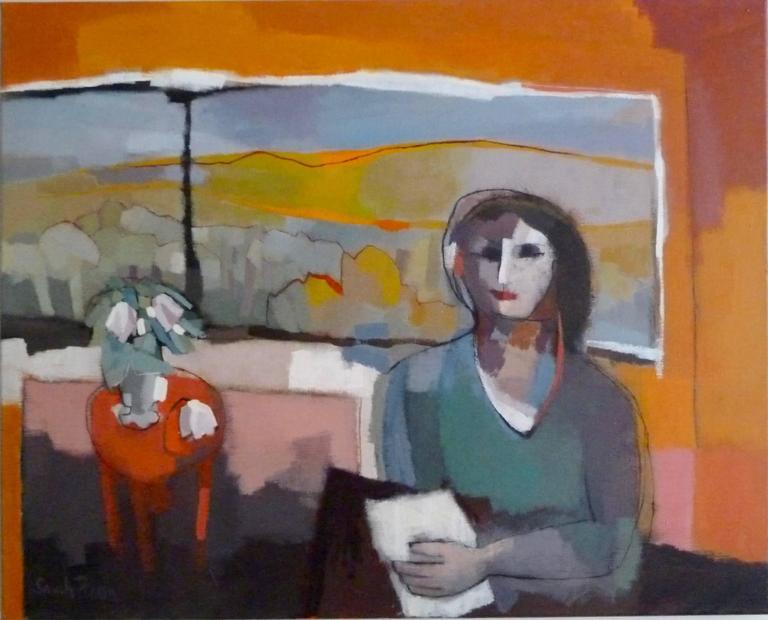 Sarah Picon - Portrait du Femme devant une Fenêtre 1