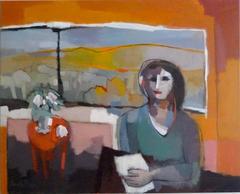Portrait du Femme devant une Fenêtre
