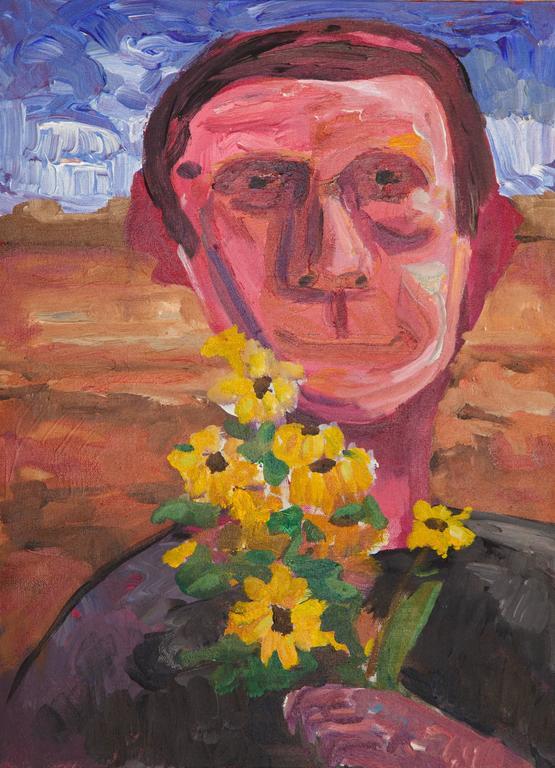 Reza Java Figurative Painting - Flowers in the Desert