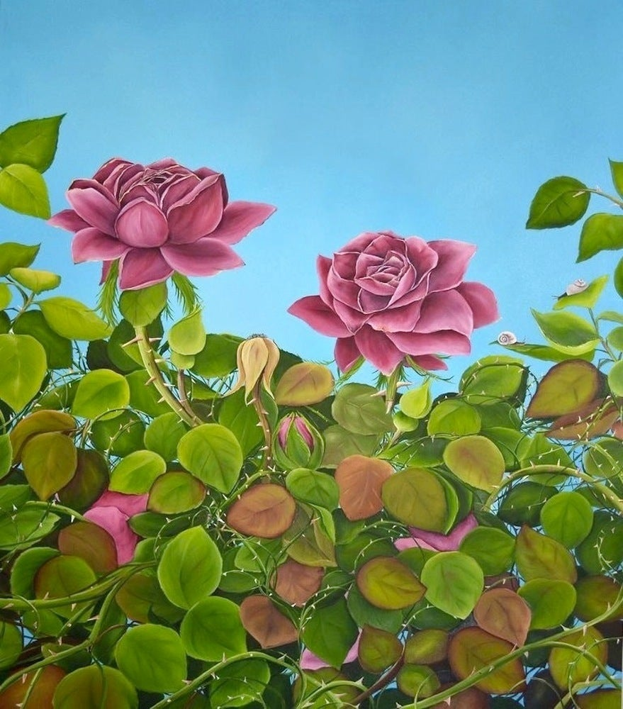 Allison Green Figurative Painting - July Roses