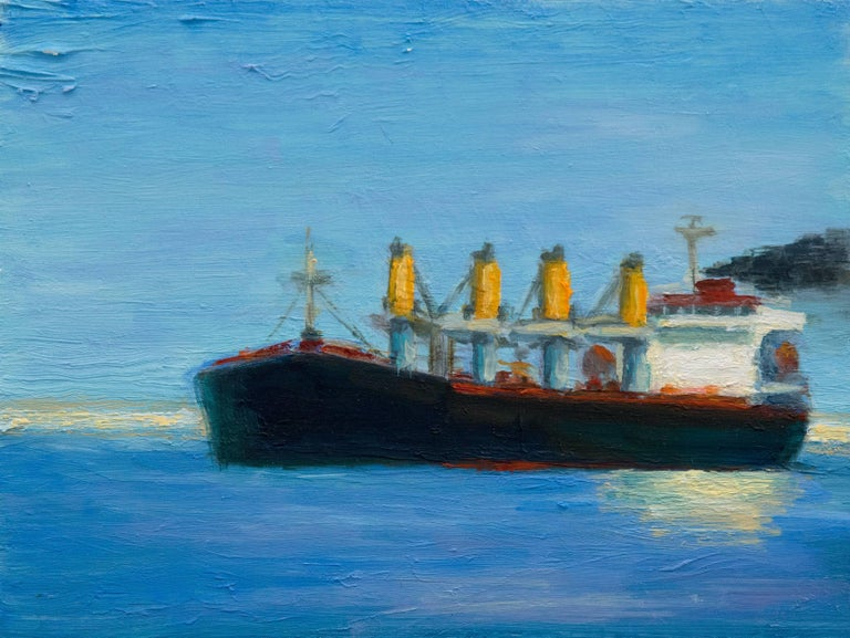 Victor Honigsfeld Landscape Painting - Tanker
