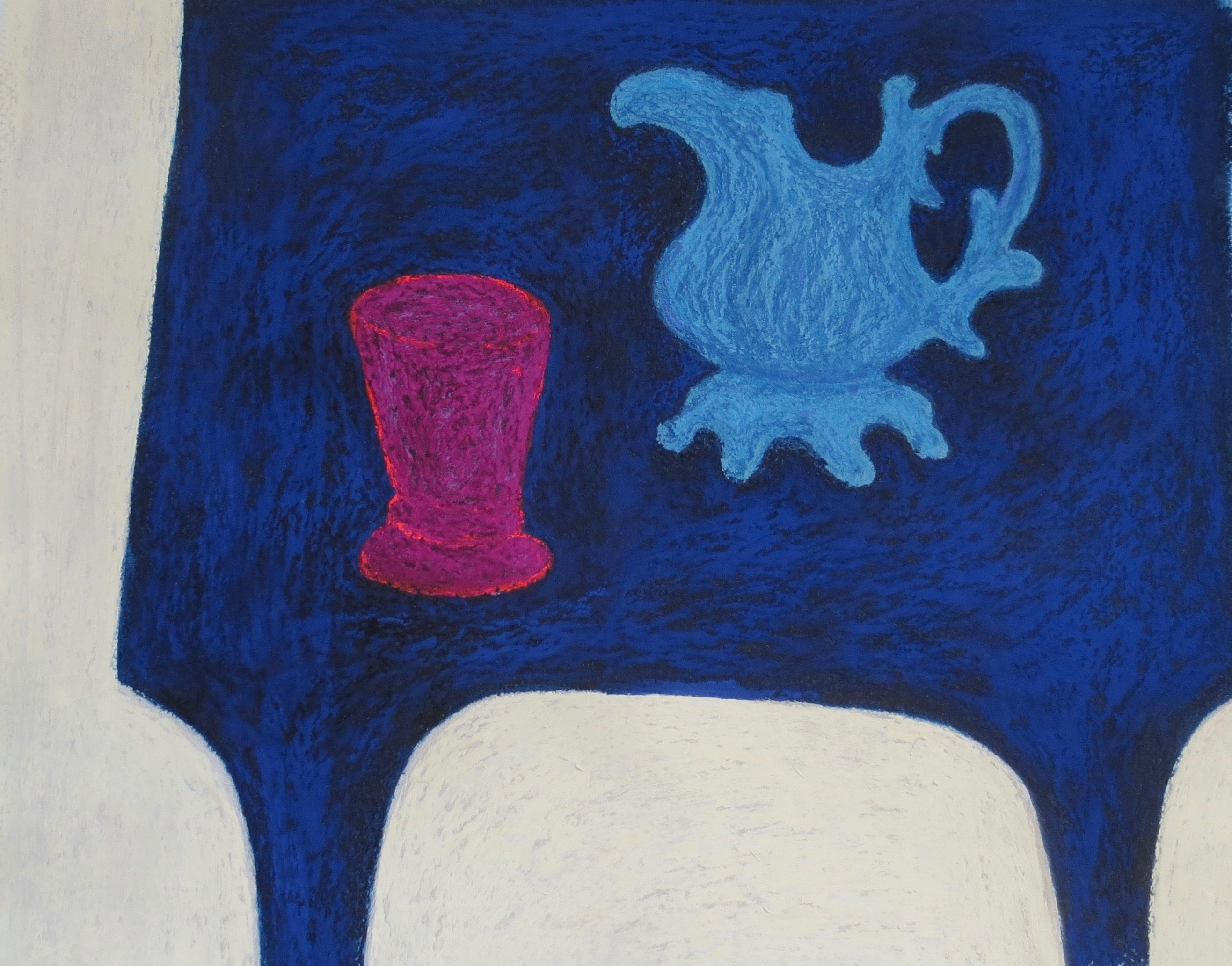 Just for You, small work on paper, interior still life with teapot