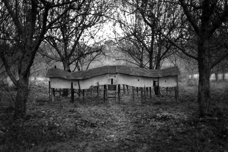 Robert Hite Black and White Photograph - Migration House